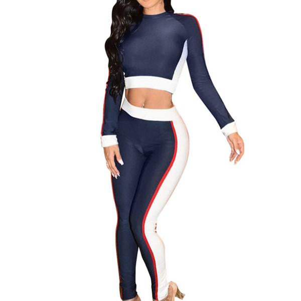 Femmes Fitness Yoga Set Gym Sports De Course À Capuche Survêtement Jogging Danse Sport Suit Workout Vêtements T-Shirts Ensemble De Pantalons