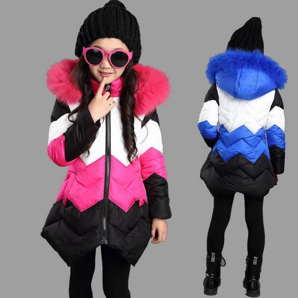 2017 Winter Korean Baby Girls Jackets Kids Warm Fashion Thick Snowsuit For Infant Girls Outerwear Long Coat Children Jackets