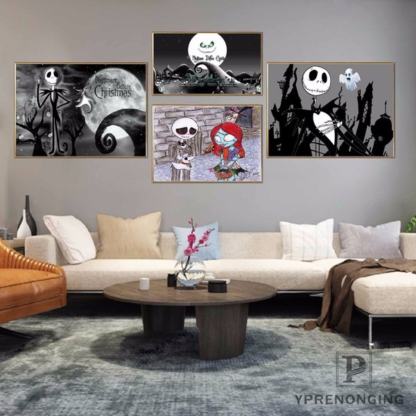 Custom Nightmare Before Christmas Poster Art Home Decor Canvas Printing Silk Fabric Print Wall Poster No Frame 180314@25