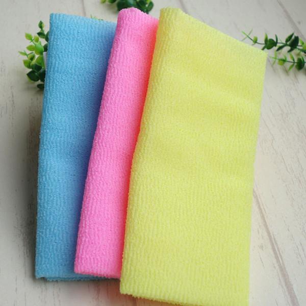 30*90cm Nylon Japanese Exfoliating Beauty Skin Bath Shower Wash Cloth Towel Bath Brushes free shipping wen6875
