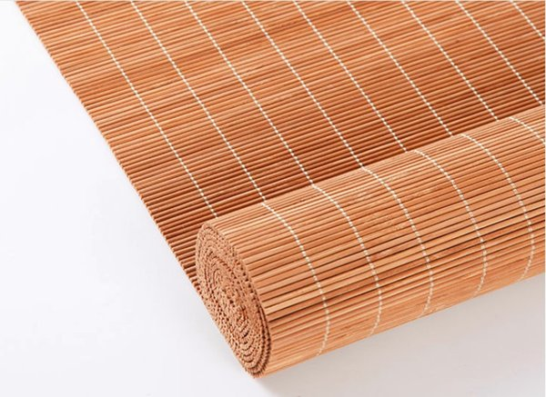 Sombra romana feita sob encomenda do bambu com a valência para o restaurante do hotel de Wester Rolo de bambu acima da janela cega a máscara do sol Estilo antigo Tons do rolo chinês