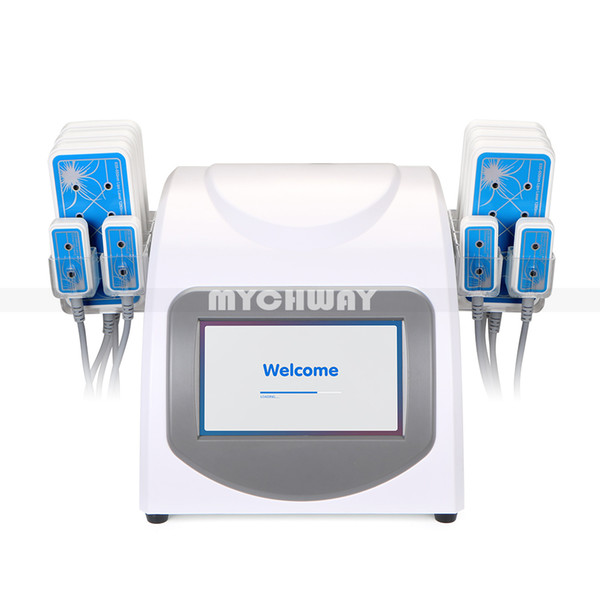 New Professional Weight Loss Lipo Laser 10 Pads Diode Lipolysis 160mw Slimming Machine with Fat Caliper