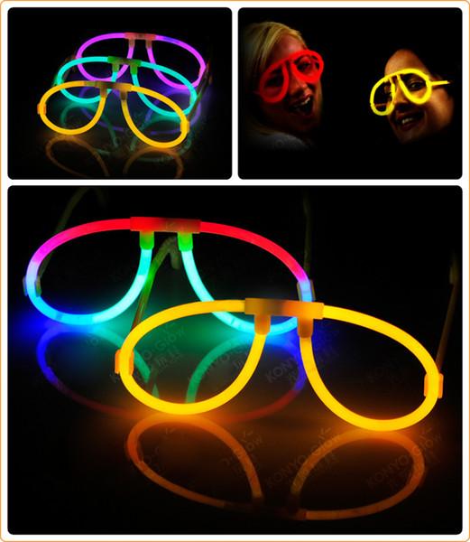 Glow Stick Gafas brillan en la oscuridad Rave Party Glasses cumpleaños favores de la boda Glow Party Supplies Navidad Decoración de Halloween