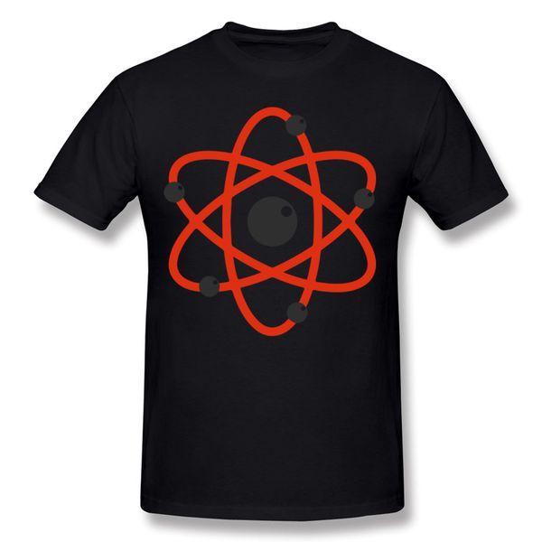 Special Mens 100% Cotton Atom Love Physics Big Bang Theory T-Shirt Mens Round Collar Yellow Short Sleeve T-Shirt 5XL Crazy T-Shirt