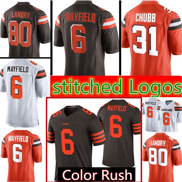 innovative design 9ca4c ee15e 2018 Top Sales 6 Baker Mayfield 80 Jarvis Landry Football Jerseys Men'S  Cleveland Browns Jersey From Heysports, $26.64 | Dhgate.Com