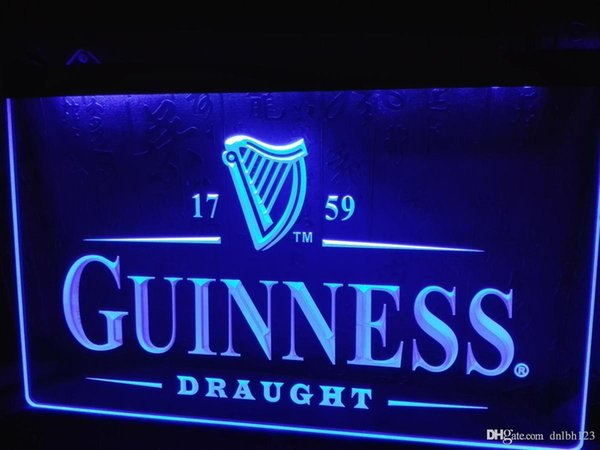 LE002b- Guinness Vintage Logos Beer Bar LED Neon Light Sign