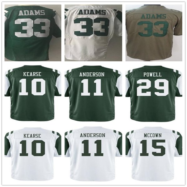 best loved b9cc5 6bffa 2018 Custom Men'S Women'S Youth New York Jet Jerseys 10 Jermaine Kearse 11  Robby Anderson 15 Josh Mccown 29 Bilal Powell 33 Jamal Adams From ...