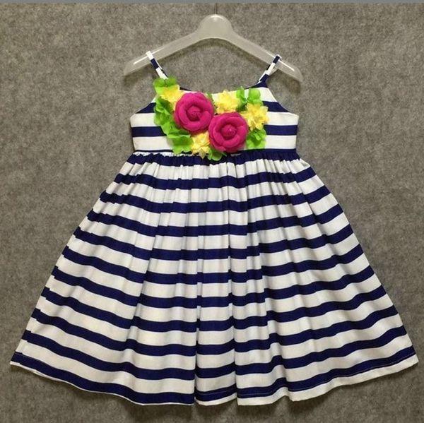 Stereoscopic Flowers Suspender Skirt 100% Cotton Flowers Braces Skirt Girls Floral Dress Striped Maxi Dress Pleated Vest Skirt Performance
