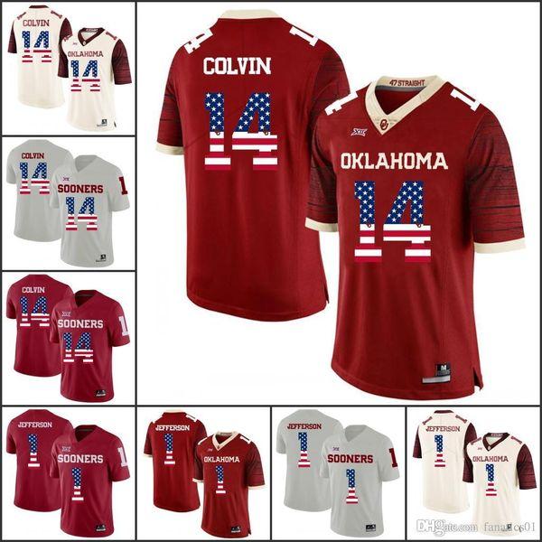 National flag Oklahoma Sooners College Football 2018 NCAA Jersey Badet Sutton Adams Bond Anderson Mixon Williams Sylvie Turner Jones