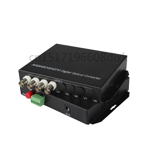 HD Video AHD CVI TVI Fiber Optischer Konverter, 4-Kanal 720P 960P Video Fiber Optic Sender mit RS485 Daten