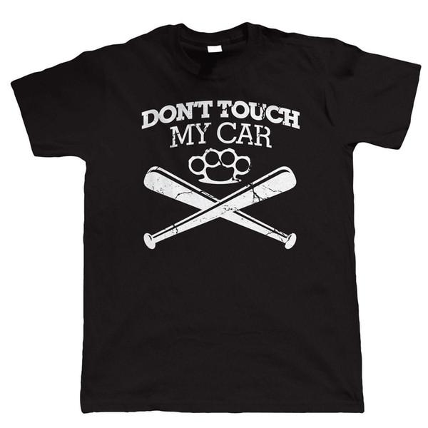 Ne touchez pas mon t-shirt drôle pour homme, couple de voitures classiques du muscle américain JDM Hot Rod
