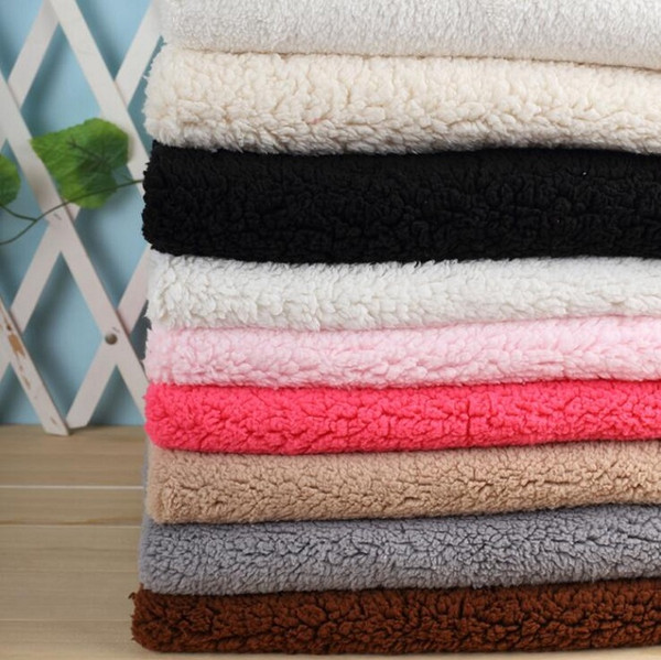 top popular Fabric cotton velvet polyester sherpa plush for Handmade Sewing Material Curtain Needlework DIY craft quilt cover leisure wear 2021