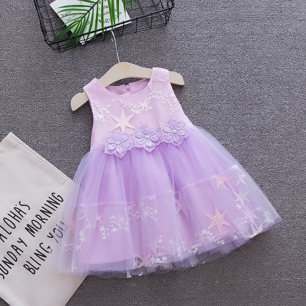 2018 summer baby girls dress kids girls party birthday frock new infant toddler flower clothing girls pricess dresses
