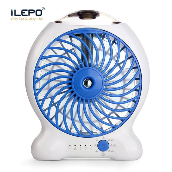 Mini Water Mist Cooling Fan With 1200mAh Rechargeable 18650 Battery 25ml Water Tank Portable USB Spray Fan 3 Level Strong Wind Power