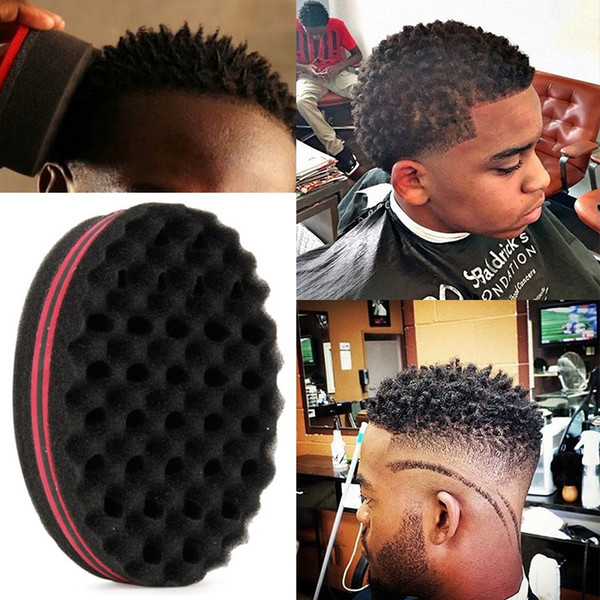 150pcs Magic Double Head Sponge Men Barber Hair Brush Black Dreads Locking Afro Twist Curl Coil Brush Hair Styling Tools Hair Care