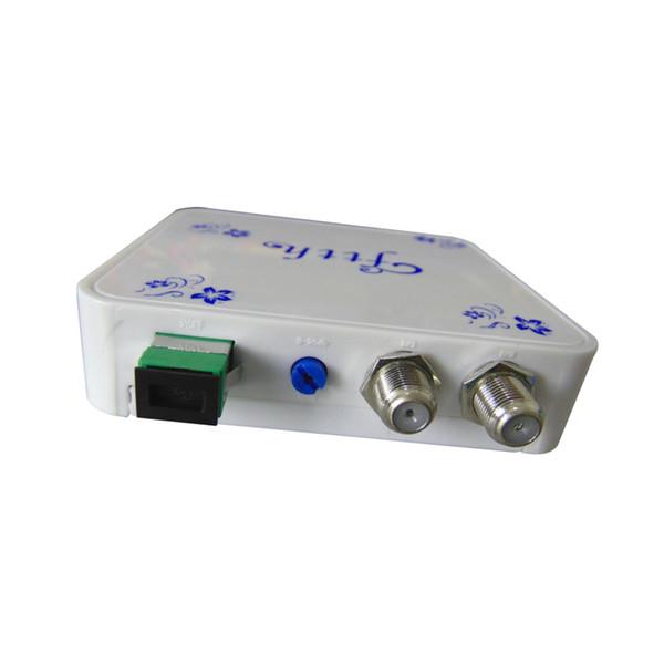 Spedizione gratuita CATV Optical Node Mini FTTH ricevitore CATV fibra ottica convertitore in presa a muro 2 pz
