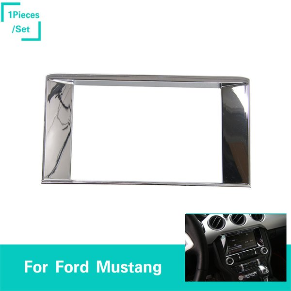 ABS Chrome Navigation Ring 1PCS Decoration Trim Ring Fit Ford Mustang 2015-2016 High Quality Auto Interior Accessories