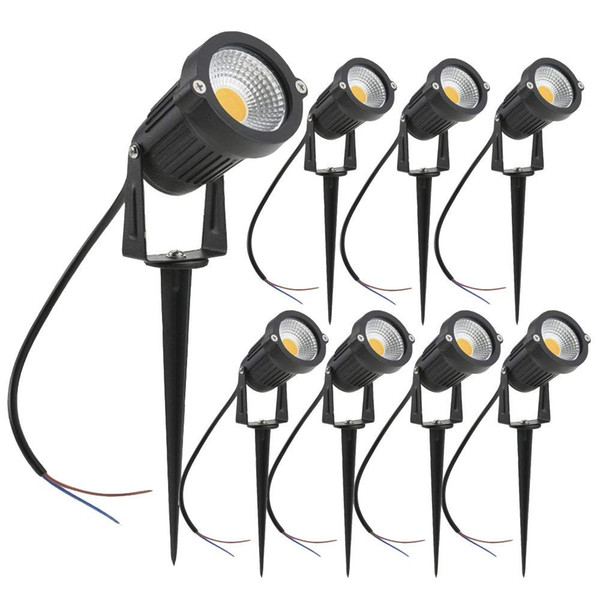 5W LED Landscape Lights 12V 24V Waterproof Garden Pathway Lights Warm White Walls Trees Flags Outdoor Spotlights with Spike Stand