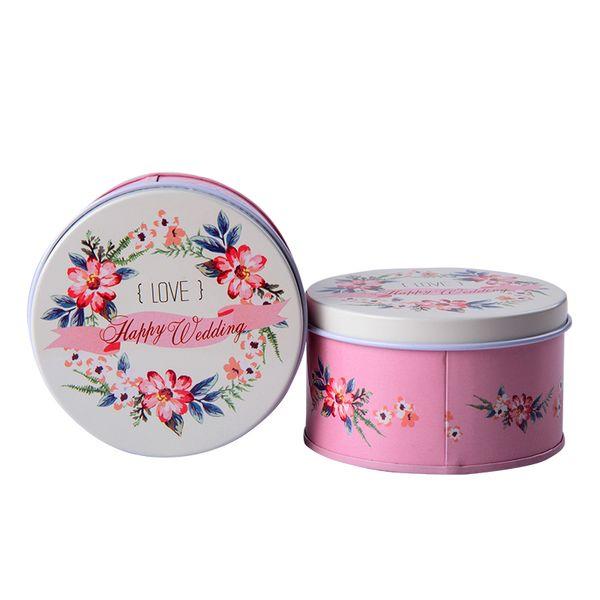 Горячий цветок олова конфеты коробка для хранения Свадьба День Рождения поставки запечатанный оловянный чай банку 12 шт. / лот мини жестяная коробка ювелирных монет Rangement банки