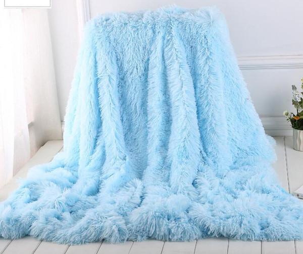 Soft Long Shaggy Fuzzy blanket Faux Fur Warm Elegant Cozy Fluffy Throw Bed Sofa Blanket Multi Color
