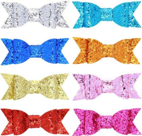 bow barrettes 8 cores