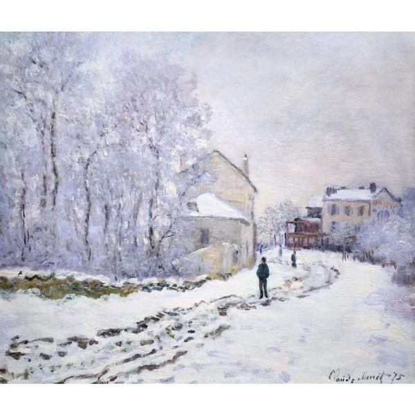Acheter Peinture Murale à L Huile Sur Neige à Argenteuil Claude Monet Oeuvre D Art Célèbre Sur Toile Peinte à La Main De 103 52 Du Kixhome