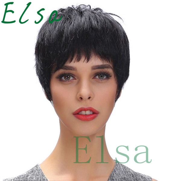 Short wigs for african american For Black Women machine made wigs Pixie Short Cut Human Best human hair Wig