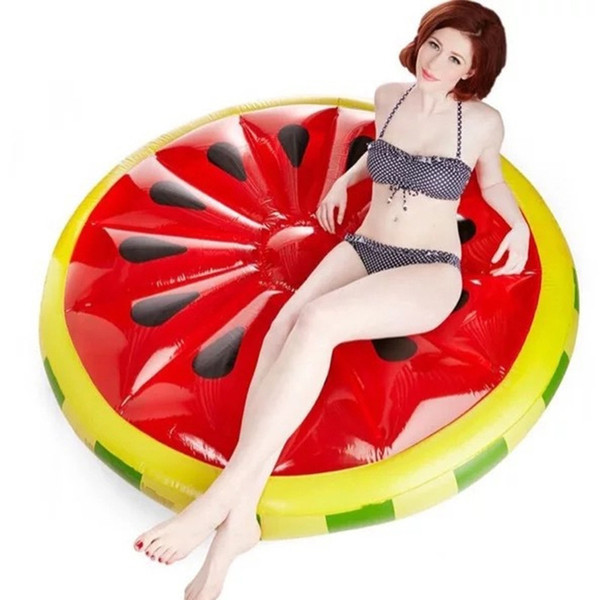 45inch Inflatable Watermelon Lemon Cream Rainbow Float Mattress Pool Fun Toys Floating Row Air Bed Affordable Missley Giant PVC