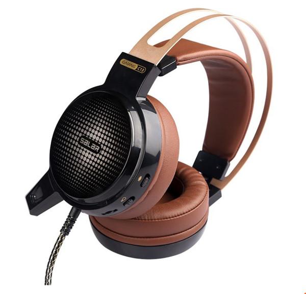 Salar C13 Gaming Headset Deep Bass Spiel Kopfhörer Bestes Casque Gamer Kopfhörer mit Mikrofon LED Licht Kopfhörer für Computer PC