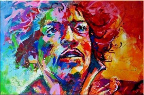 JIMI HENDRIX Portrait Pop Abstract Graffiti Art Oil Painting Handpainted & HD Print Wall Art Home Decor On High Quality Canvas p219