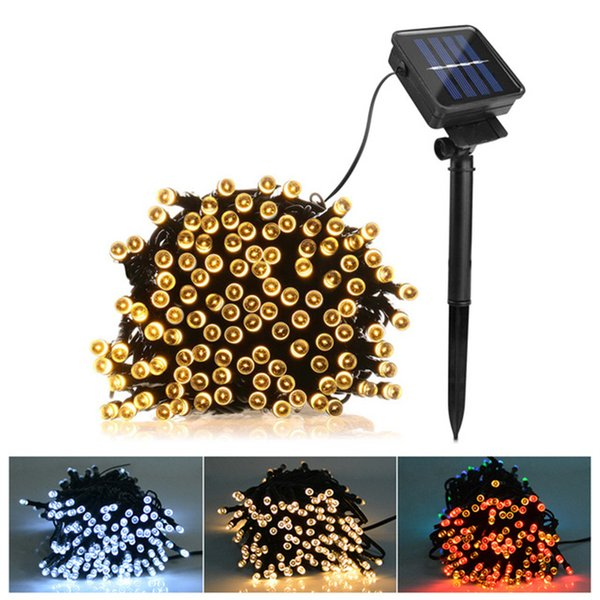 7m 12m 22m Solar Lamps LED String Lights 100/200 LED Outdoor Fairy Holiday Christmas Party Garlands Solar Lawn Garden Lights Waterproof