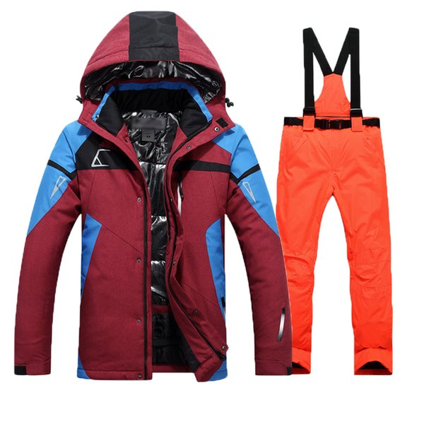 Ski Suit Men Waterproof Thermal Snowboard Jacket + Pants Male Mountain skiing and snowboarding Winter Snow Clothes Set Hot