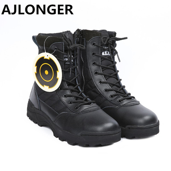 2019 Hot Sell Retro Combat Boots Winter England-style Fashionable Men's Short Black Shoes Military Boots Sneakers
