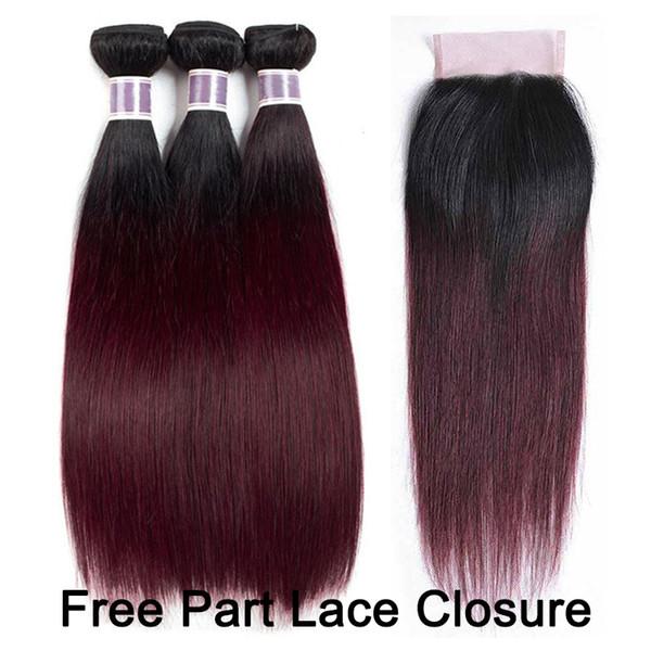 1B / 99J 4x4 Free Part Lace Closure