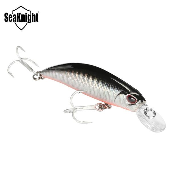 SeaKnight Minnow SK040 Sinking Lure 1PCS 9.5g 7cm 3in Mini Minnow Plastic Hard Fishing Lure 3D Fish Eyes VMC Hooks Fishing Baits Y18100906