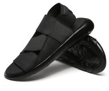2018 summer Roman sandals Y8 Black Samurai cool men's beach shoes Yohji Yaobu Ninja men's elastic band