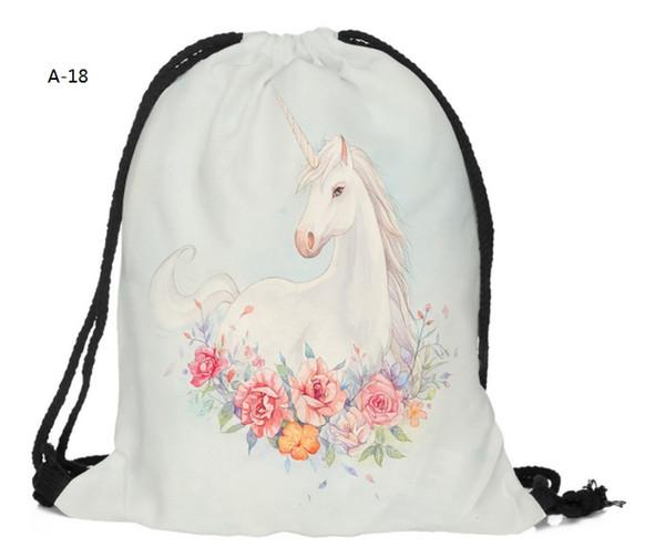 Backpack PE Swim Shoe Kids Dance Personalised Drawstring Bag School Unicorn