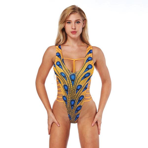 Fashion sexy one piece swimsuit bikinis plus size swimwear beach bathing suits maillots de bain pour femmes high waisted bikini for women