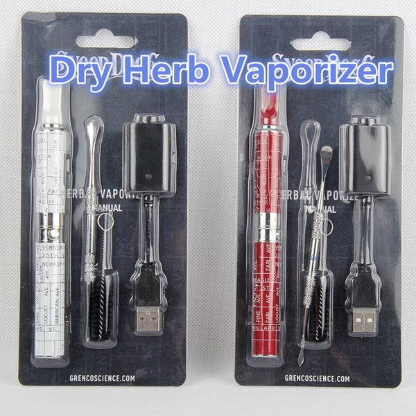 Vaporizer dry herb ecig herbal starter kit blister best vape pen with brush dabber tool usb chargers ecig Factory Wholesale