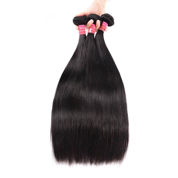 BHF Brazilian Straight Hair 3 Pieces Chinese Virgin Human Hair Weave Bundles 10-28inch Natural Color Mongolian European Hair In Stock