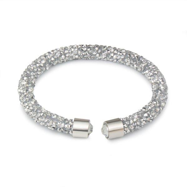 Moda Crystal Cuff pulseras para las mujeres bohemio brillante Rhinestone abierto encantos pulseras brazaletes moda joyería femenina