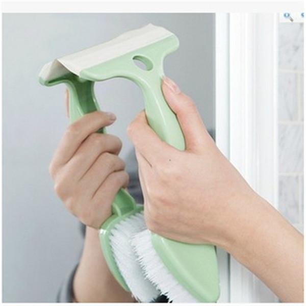 Mrosaa Dual Head Bathroom Brush Kitchen Window Glass Wiper Brush Toilet Bowl Basin Bathtub Cleaning Tools Accessories