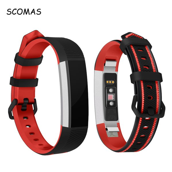 SCOMAS Double Color Replacement Wristband Strap for Fitbit Alta HR Smart Bracelet Soft Silicone Watch Band for Fitbit Alta