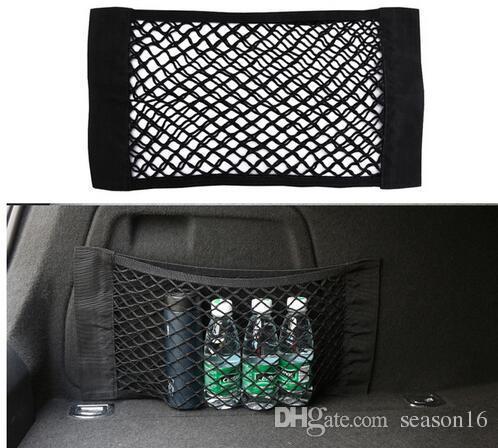 Car Trunk Storage Mesh Bag Back Rear Elastic Pocket Organizer Magic Tape Sticking Styling Luggage Holder Pocket Sticker