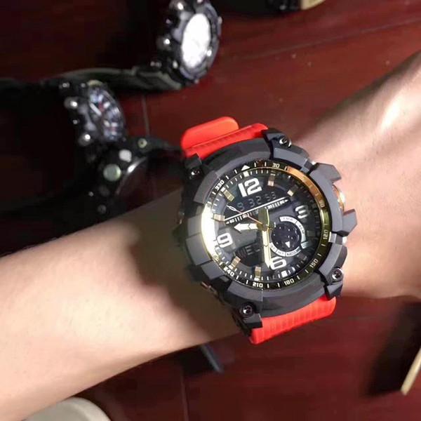 2018 Mens G Estilo Choque Esporte Relógios Homem Cronógrafo Masculino Verão Digital LED Analógico Pulseira de Relógio de Pulso Função Bússola Relógio de Qualidade AAA