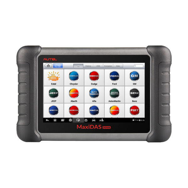 Autel MaxiDAS DS808K Full Set Tablet Diagnostic Scanner Full System Car Diagnostic and ECU Coding Tool with Full Adapters