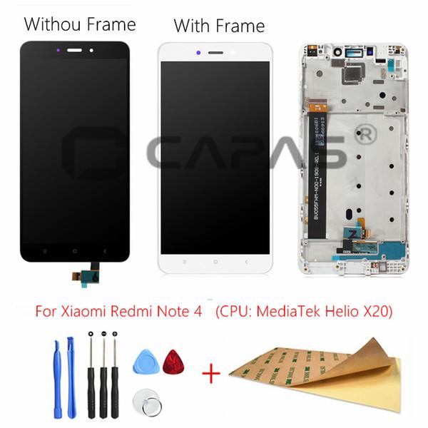 Redmi Not 4 MediaTek LCD Ekran Çerçevesi Komple Dokunmatik Ekran Paneli redmi Note4 Not 4 MTK LCD Sayısallaştırıcı Yedek Parça İçin