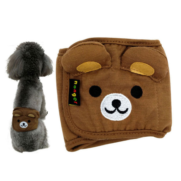 New Dog Diaper Belly Band Cotton Physiological Underwear Wrap Nappy Bear Elephant Pets Sanitary Pants for Male Dog