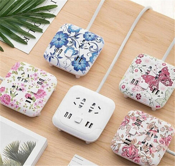 Climbing wall usb socket creative desktop smart plug multi-function line card mobile phone charging wiring board safety 5styles available