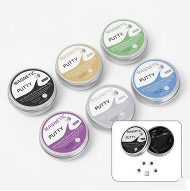 Wholesale Magnetic Putty Decompression Toys Swallow the Magnet Hot Sale Magnetic Color Clay Brain Game Free Shipping